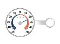 Термометр оконный биметаллический на липучке RST 02090