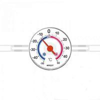 Термометр оконный биметаллический на липучках RST 02097