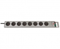 Удлинитель 2,5 м Brennenstuhl Super-Solid-Line, 8 розеток, серый (1153340118)
