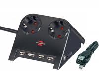 Удлинитель 1,8 м Brennenstuhl Desktop-Power-Plus, черный (1153500122)