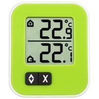 Термометр цифровой с внешним проводным датчиком TFA Moxx, зеленый (30.1043.04)