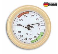 Аналоговый термогигрометр для сауны с деревянной рамой TFA 40.1006