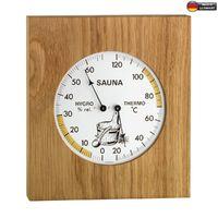 Аналоговый термогигрометр для сауны с рамой из дуба TFA 40.1051.01