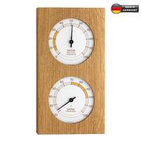 Аналоговый термогигрометр из дуба для сауны TFA 40.1052.01