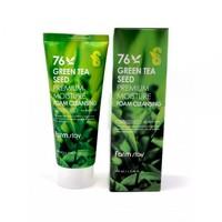 Пенка очищающая с семенами зеленого чая FarmStay REEN TEA SEED PREMIUM MOISTURE FOAM CLEANSING 100ml (9775137)