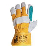 Jeta Safety JK700 Комбинированные кожаные перчатки с хлопковой подкладкой, усиленным наладонником