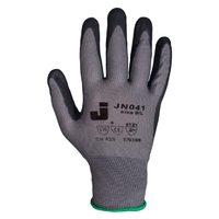 Jeta Safety JN041 Защитные трикотажные перчатки из полиэстра с пенонитриловым покрытием, цвет серый