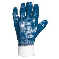 Jeta Safety JN065 Защитные перчатки из 100% хлопка с полным нитриловым покрытием и вязаной манжетой