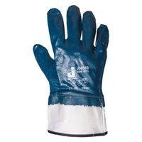 Jeta Safety JN069 Защитные перчатки из 100% хлопка с полным нитриловым покрытием и крагой