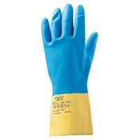 Jeta Safety JNE711 Неопреновые перчатки с хлопковым напылением изнутри, желто-голубые
