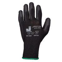 Jeta Safety JP011b Защитные перчатки из полиэстера c полиуретановым покрытием, цвет черный