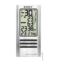Цифровой термогигрометр, дом/улица, 2 будильника, стальной корпус RST 02317