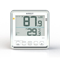 Цифровой термогигрометр с большим дисплеем, белый корпус RST PRO 02415.