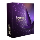 Анальный стимулятор RestArt Tower (RA-305) 8,3 см фиолетовый