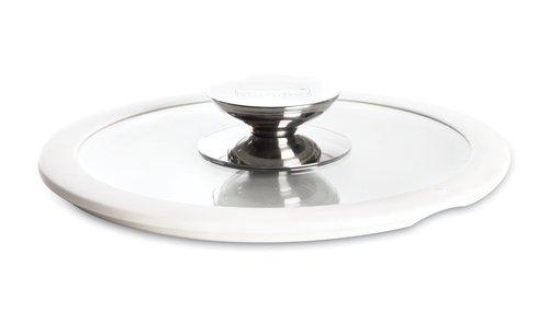 Крышка стеклянная с белым силиконовым ободком Berndes (Ø 16 см) (007516)