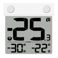 Термометр цифровой уличный на липучке RST 01289