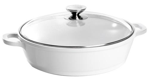 Кастрюля-сотейник со стеклянной крышкой Berndes VARIO CLICK INDUCTION WHITE (Ø 24 см) (032165)