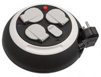 Удлинитель на катушке 3 м Brennenstuhl Comfort-Line, 3 розетки, 2 USB (1109220600)