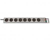Удлинитель 2,5 м Brennenstuhl Super-Solid-Line, 8 розеток, серебристый (1153340118)