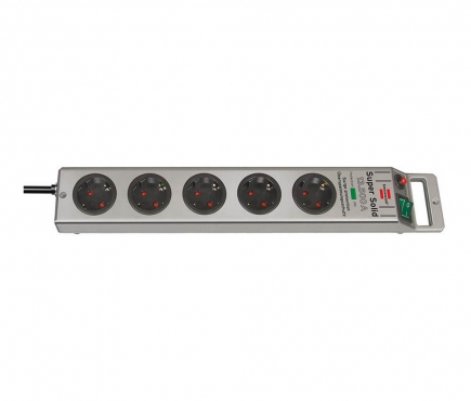 Сетевой фильтр 2,5 м Brennenstuhl Super-Solid, 5 розеток, серый (1153340315)