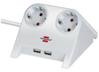Удлинитель 1,8 м Brennenstuhl Desktop-Power-Plus, белый (1153520222)