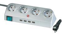 Удлинитель 1,8 м Brennenstuhl Desktop-Power-Plus, серебристый (1153540134)