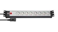 Удлинитель 3 м Brennenstuhl Premium-Line 19, 8 розеток, разъем IEC (1156057118)