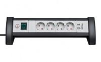 Удлинитель настольный 1,8 м Brennenstuhl Premium-Office-Line, 4 розетки, 2 USB (1156250534)