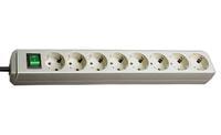 Удлинитель 3 м Brennenstuhl Eco-Line, 8 розеток, светло-серый (1159350018)