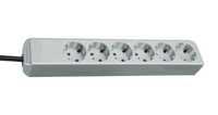Удлинитель 1,5 м Brennenstuhl ECO-Line, 6 розеток, светло-серый (1159450015)