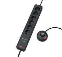 Удлинитель 2 м Brennenstuhl ECO-Line Comfort Switch, 6 розеток, черный (1159450616)