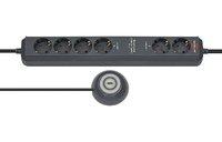 Удлинитель 1,5 м Brennenstuhl Eco-Line Comfort Switch Plus, 6 розеток, черный (1159560516)