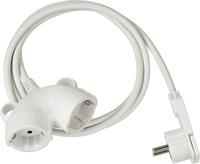 1161820225 Brennenstuhl удлинитель-переноска Quality Plastic Extension Cable,5м., 2 роз., белый