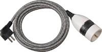 1161830020 Brennenstuhl удлинитель-переноска Quality Plastic Extension Cable,5м., 1 роз.,серый