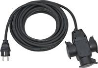 1167810301 Brennenstuhl удлинитель-переноска Extension Cable,10м., кабель черный 1,5мм2, 3 роз.,IP44