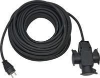 1167820301 Brennenstuhl удлинитель-переноска Extension Cable,25м., кабель черный 1,5мм2, 3 роз.,IP44