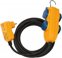 Удлинитель 5 м Brennenstuhl RCD Protected Cable, 4 розетки, IP54 (1168720010)