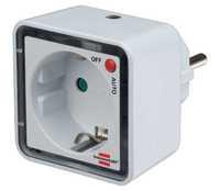 Ночник LED с датчиком освещенности и розеткой Brennenstuhl, 1 лм (1173270)