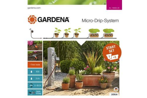 Комплект микрокапельного полива базовый с таймером Gardena (13002-20, 01398-20)