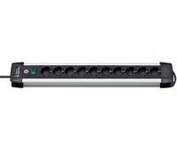 Удлинитель 3 м с выключателем Brennenstuhl Premium-ALU-Line, 10 розеток, черный (1391000010)