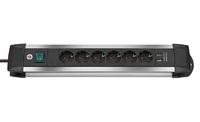 Удлинитель 3 м Brennenstuhl Premium-Alu-Line, 6 розеток, 2 USB (1391000536)