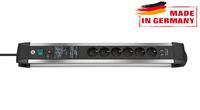 Сетевой фильтр 3 м Brennenstuhl Premium-Protect-Line 60.000А, 6 розеток, 2 USB (1391000537)