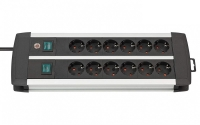 Удлинитель 3 м Brennenstuhl Premium-Duo-ALU-Line, 12 розеток (1391000912)