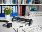 Удлинитель 1,8 м с выключателем Brennenstuhl Office-Line-Alu, 4 розетки, 2 USB, черный (1394000514)
