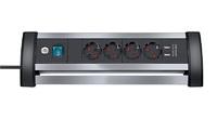 Удлинитель настольный 1,8 м Brennenstuhl Alu-Office-Line, 4 розетки, 2 USB (1394000534)