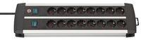 Удлинитель 3 м Brennenstuhl Premium-Alu-Line, 16 розеток, 2 группы на 8 розеток, с выключателем (1391000916)