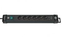 Удлинитель 3 м Brennenstuhl Premium-Line, 6 розеток, 2 USB, черный (1951160602)