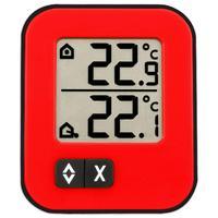 Термометр цифровой с внешним проводным датчиком TFA Moxx, красный (30.1043.05)