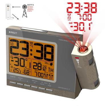 Проекционные часы с радиодатчиком RST 32768 (Q768)