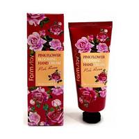 Крем для рук с экстрактом розы FarmStay PINK FLOWER BLOOMING HAND CREAM PINK ROSE, 100 мл (511999)